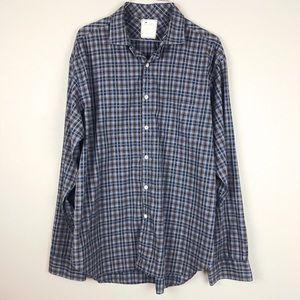 Billy Reid Men's Plaid Button Down Shirt